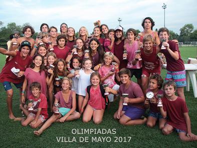 Equipo 14 bordó. Campeón Olimpíadas 2017 Menores
