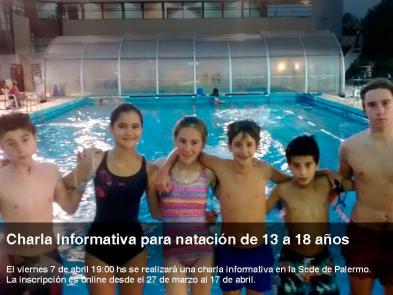 charla informativa natacion 13-18 años