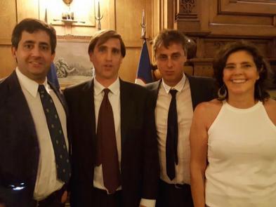 Martín Gomá, Federico Cicardo, Carlos Segura y Sue Glenny