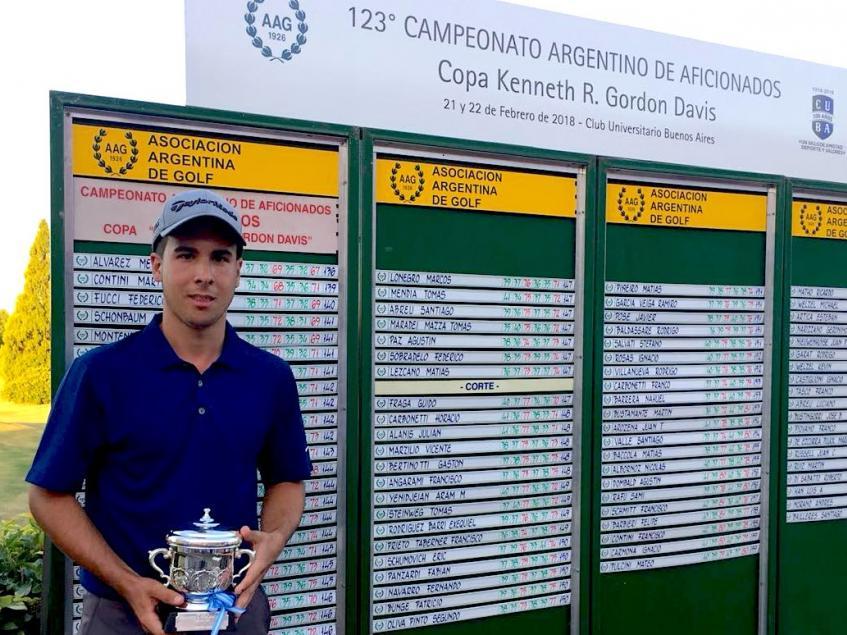 Julián Álvarez Merialdo ganador de la Copa Kenneth Gordon Davis