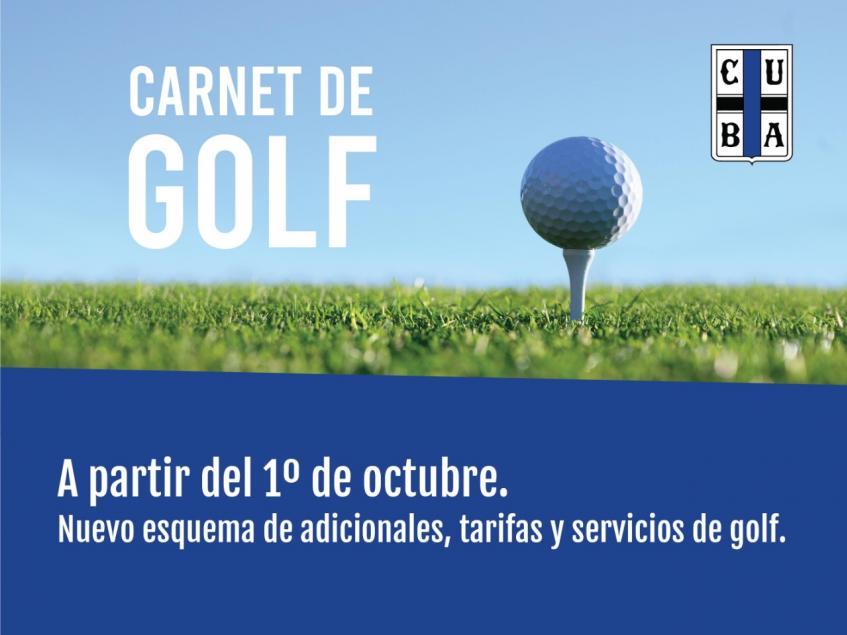 Nuevo Carnet de Golf CUBA