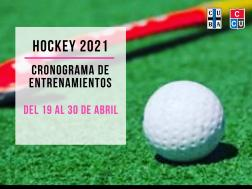 Hockey del 19 al 30 de abril